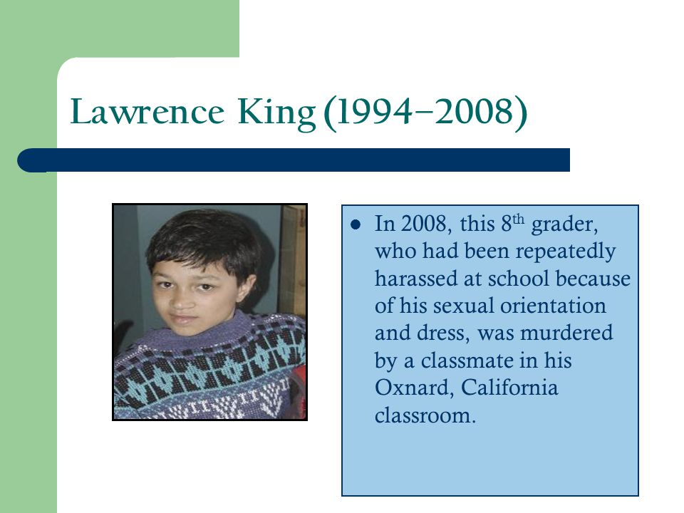 Lawrence King (1994–2008)