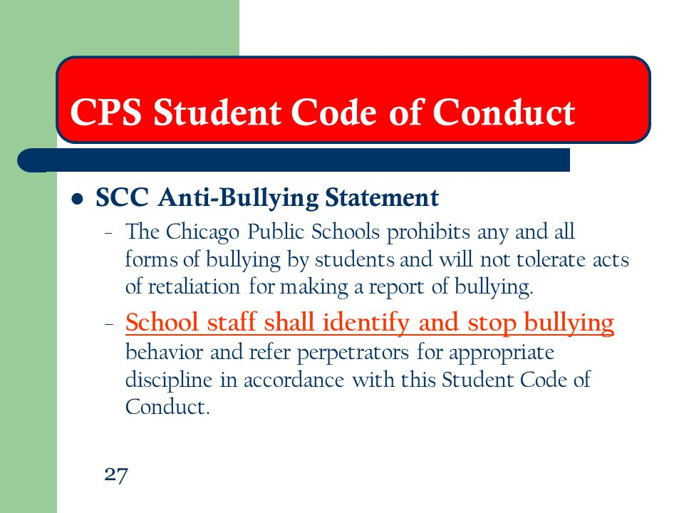 CPS Student Code of Conduct