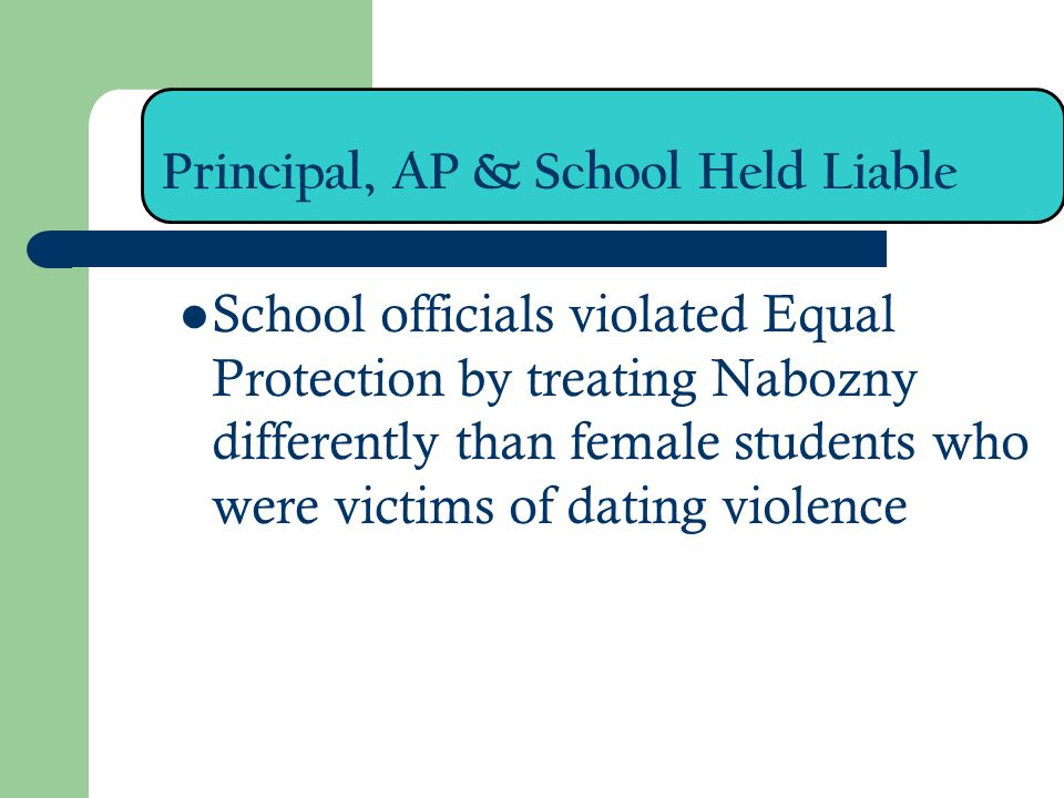 Principal, AP & School Held Liable