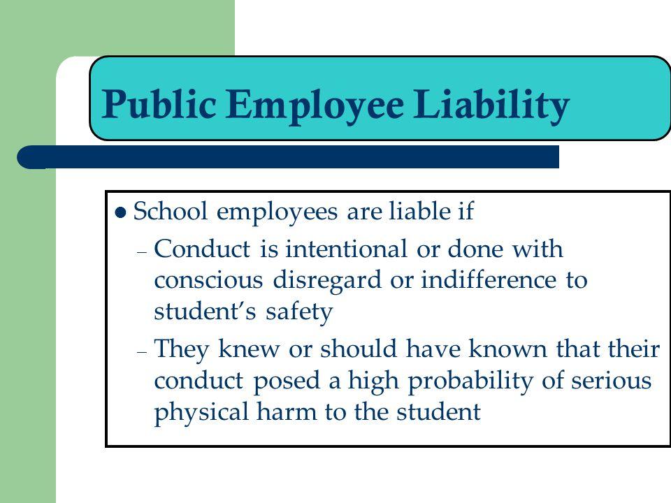 Public Employee Liability