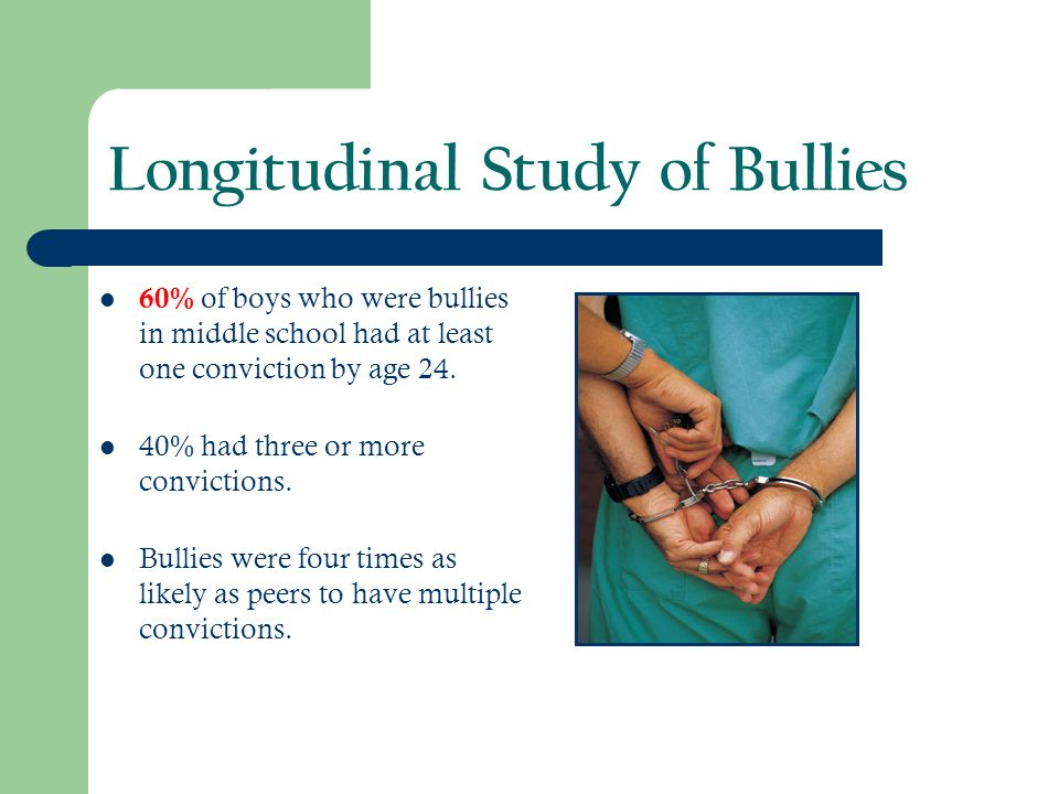 Longitudinal Study of Bullies