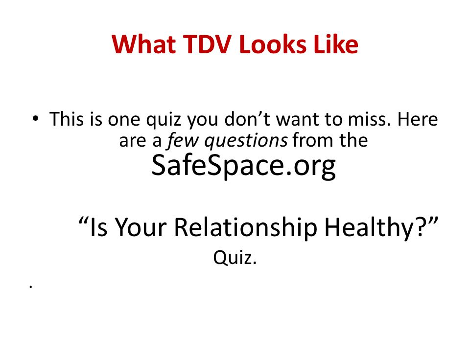 Is Your Relationship Healthy