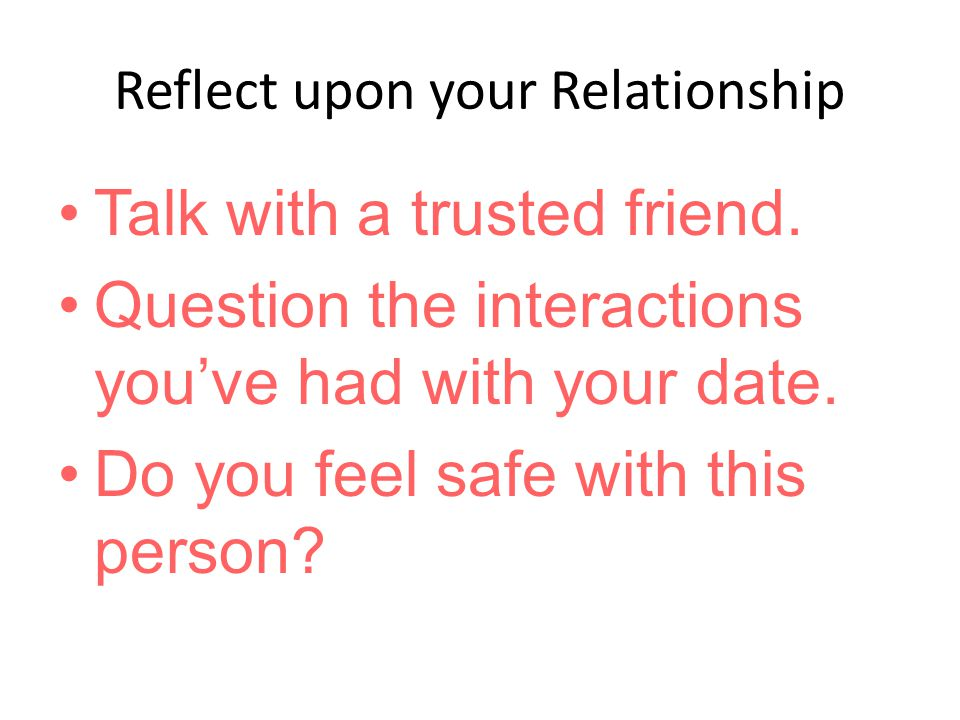 Reflect upon your Relationship