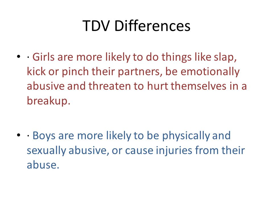 TDV Differences
