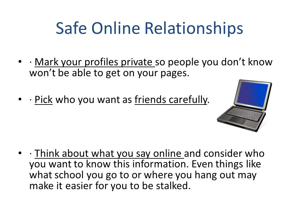 Safe Online Relationships