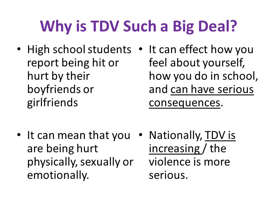 Why is TDV Such a Big Deal