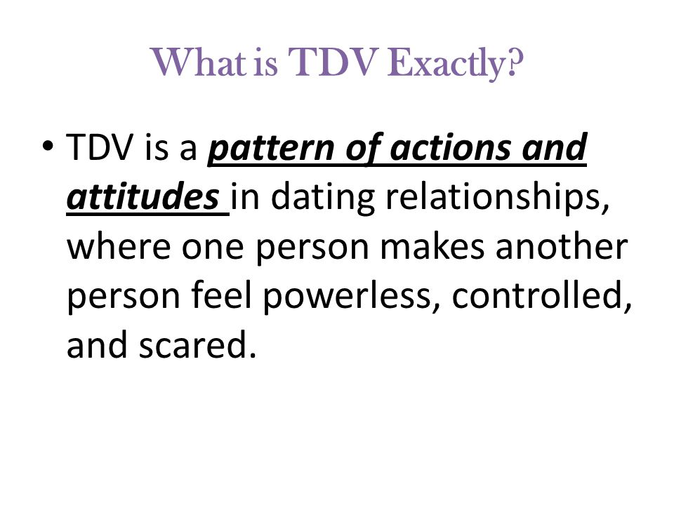 What is TDV Exactly