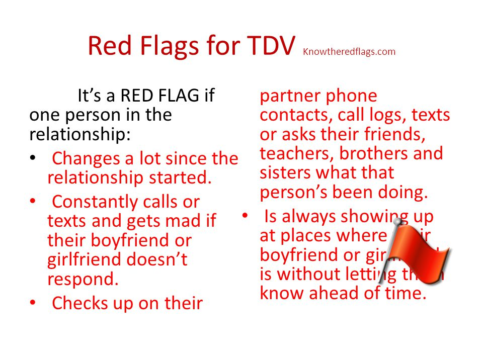 Red Flags for TDV Knowtheredflags.com