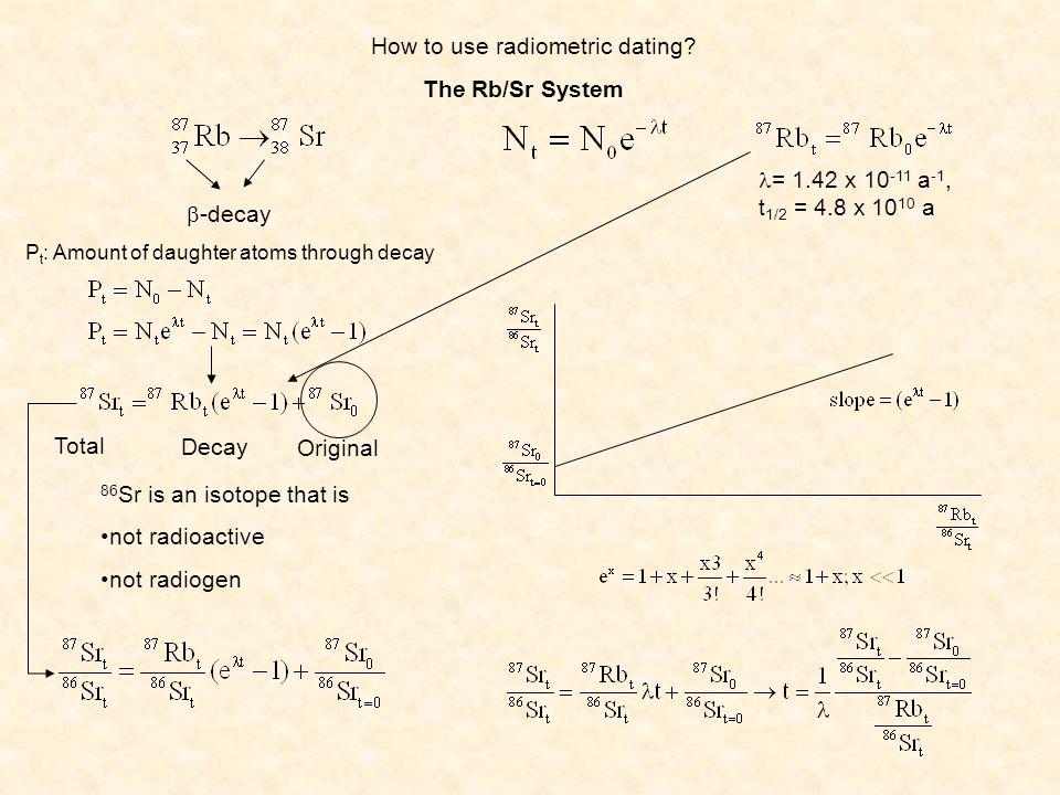 How to use radiometric dating