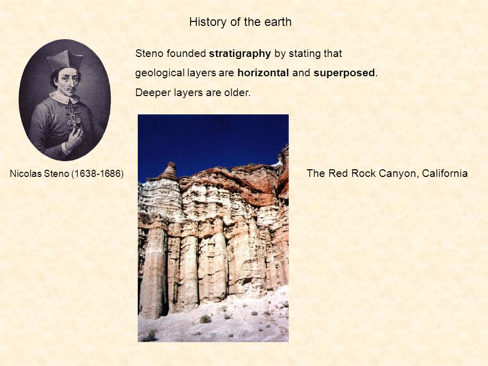 History of the earth Steno founded stratigraphy by stating that