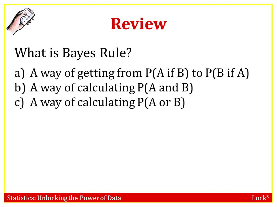 Review What is Bayes Rule