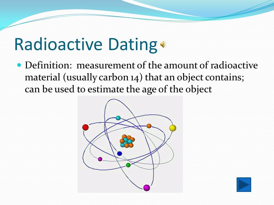 Radiometric dating definition in biology