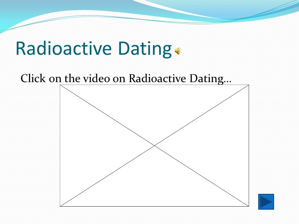 Radioactive Dating Click on the video on Radioactive Dating…
