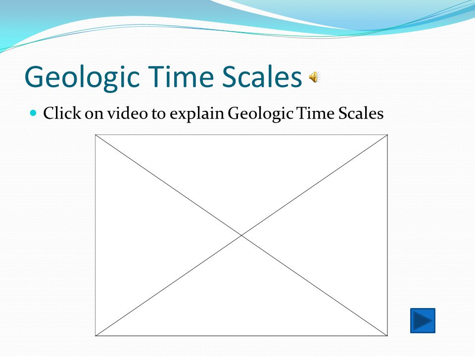 Geologic Time Scales Click on video to explain Geologic Time Scales