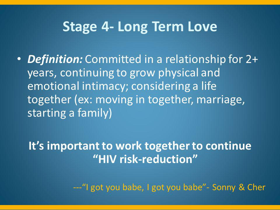 It's important to work together to continue HIV risk-reduction
