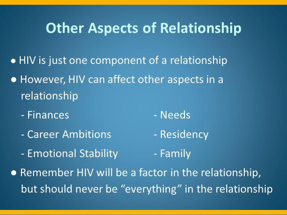 Other Aspects of Relationship