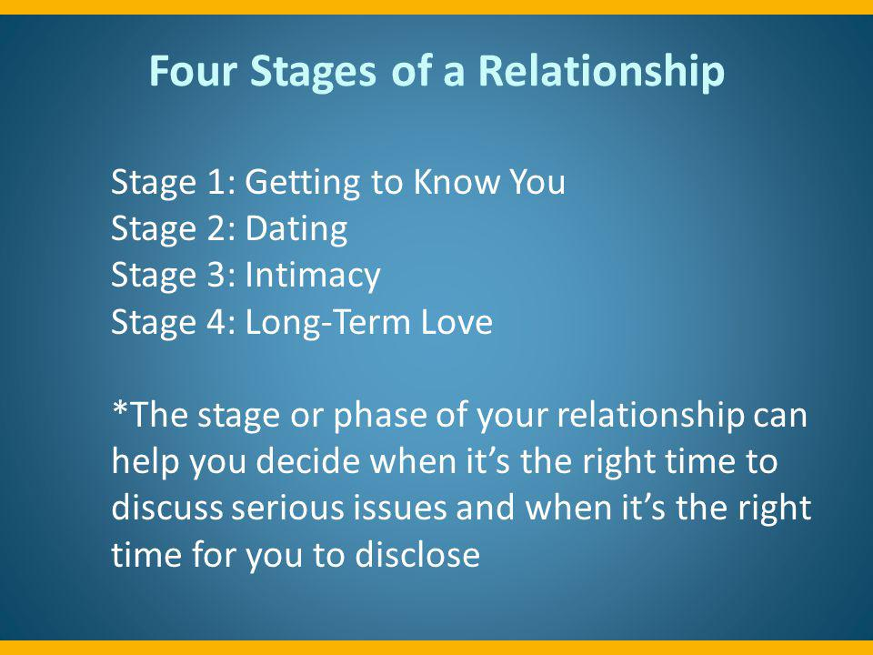 Four Stages of a Relationship