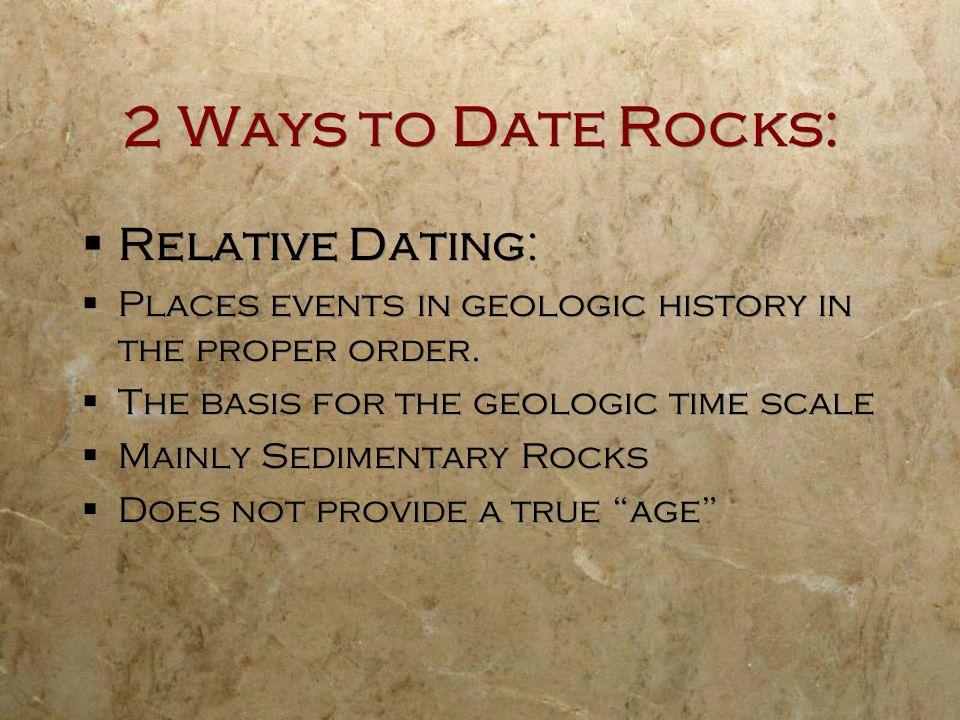 2 Ways to Date Rocks: Relative Dating:
