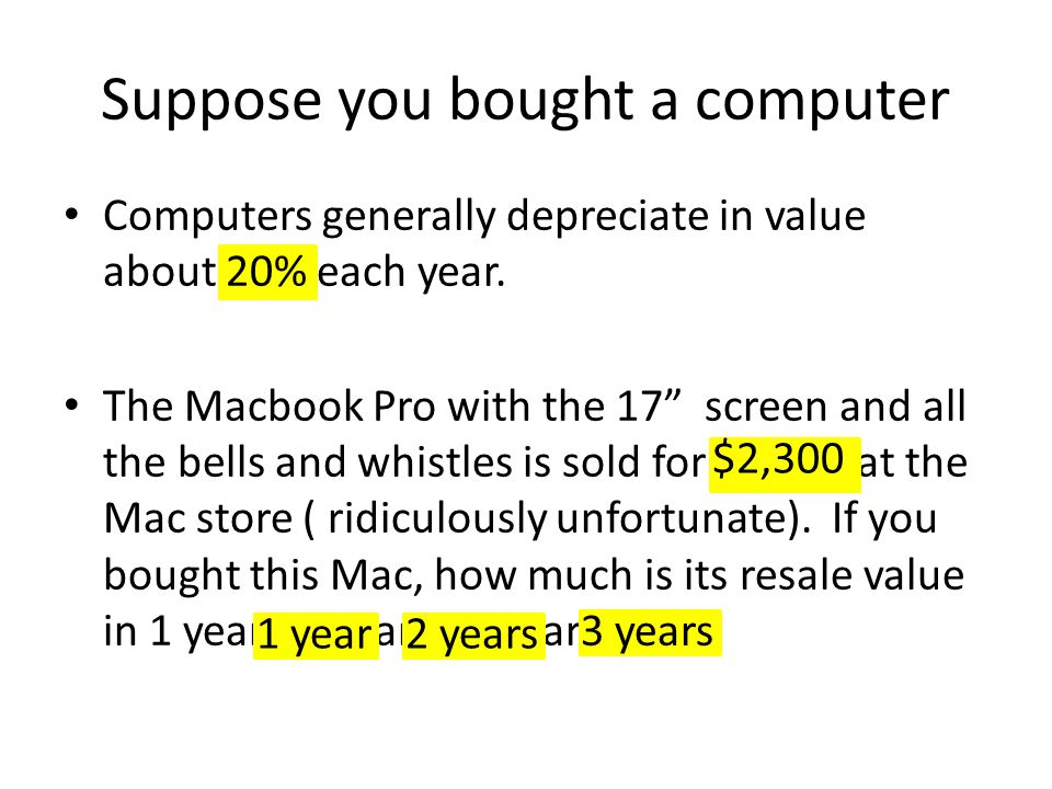 Suppose you bought a computer