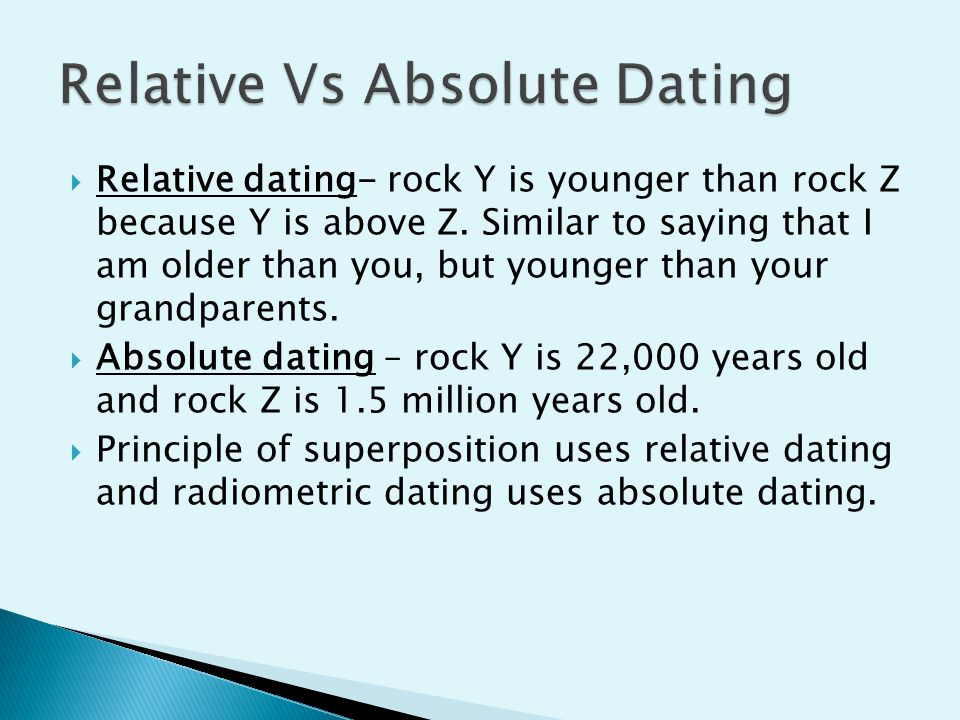 How is relative dating and absolute dating alike