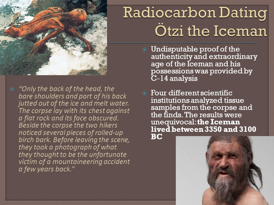 Radiocarbon Dating Ötzi the Iceman