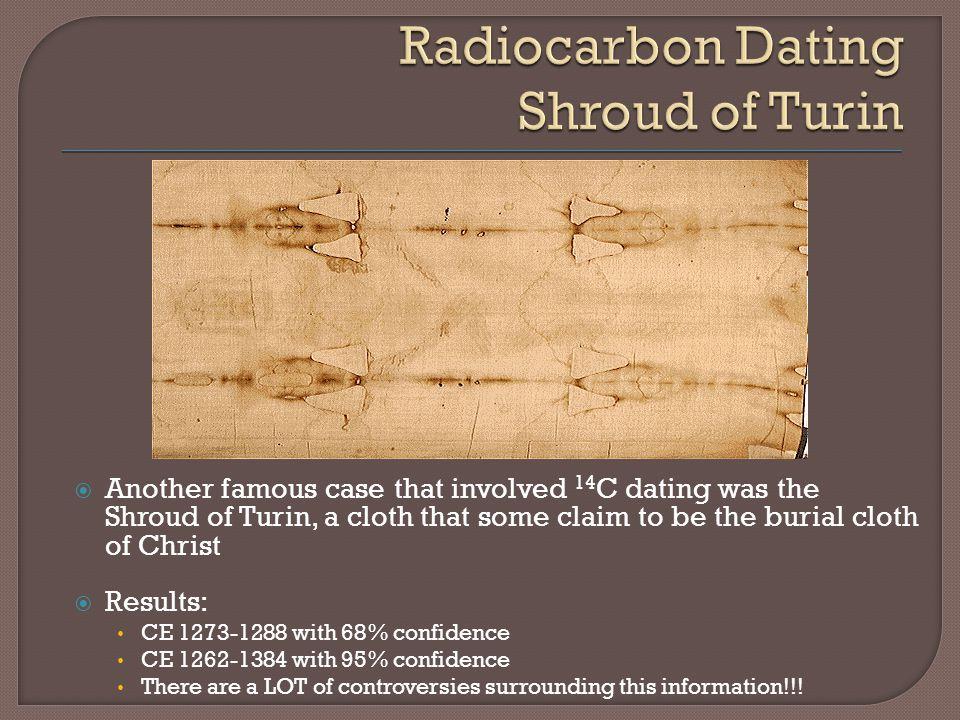 Radiocarbon Dating Shroud of Turin