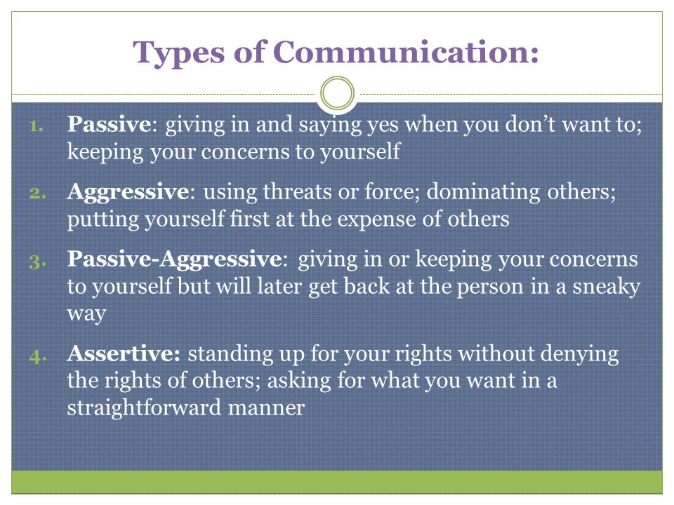 Types of Communication: