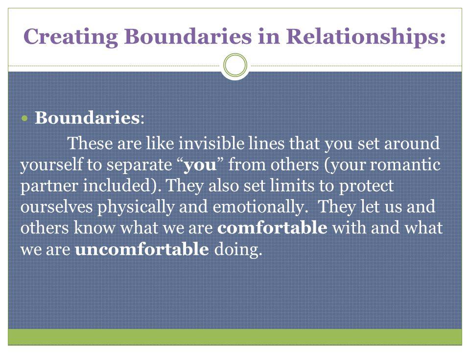Creating Boundaries in Relationships: