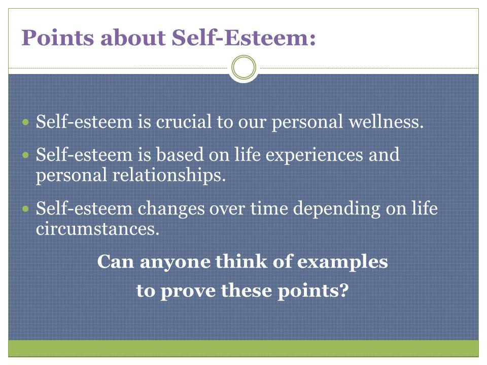 Points about Self-Esteem: