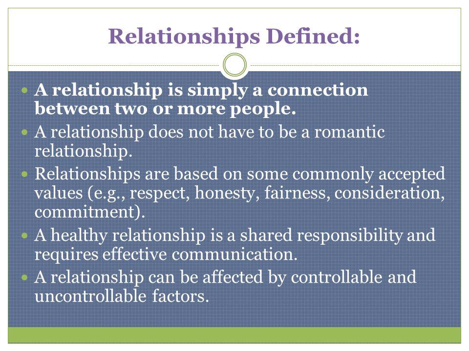 Relationships Defined:
