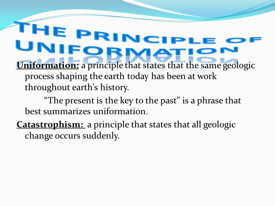The Principle of Uniformation
