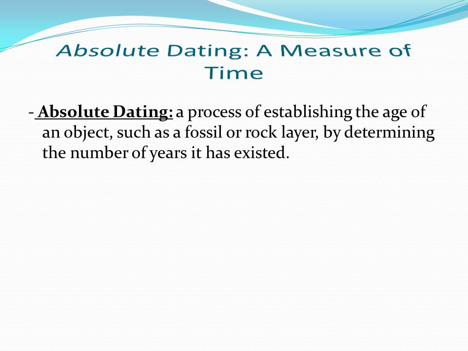 Absolute Dating: A Measure of Time