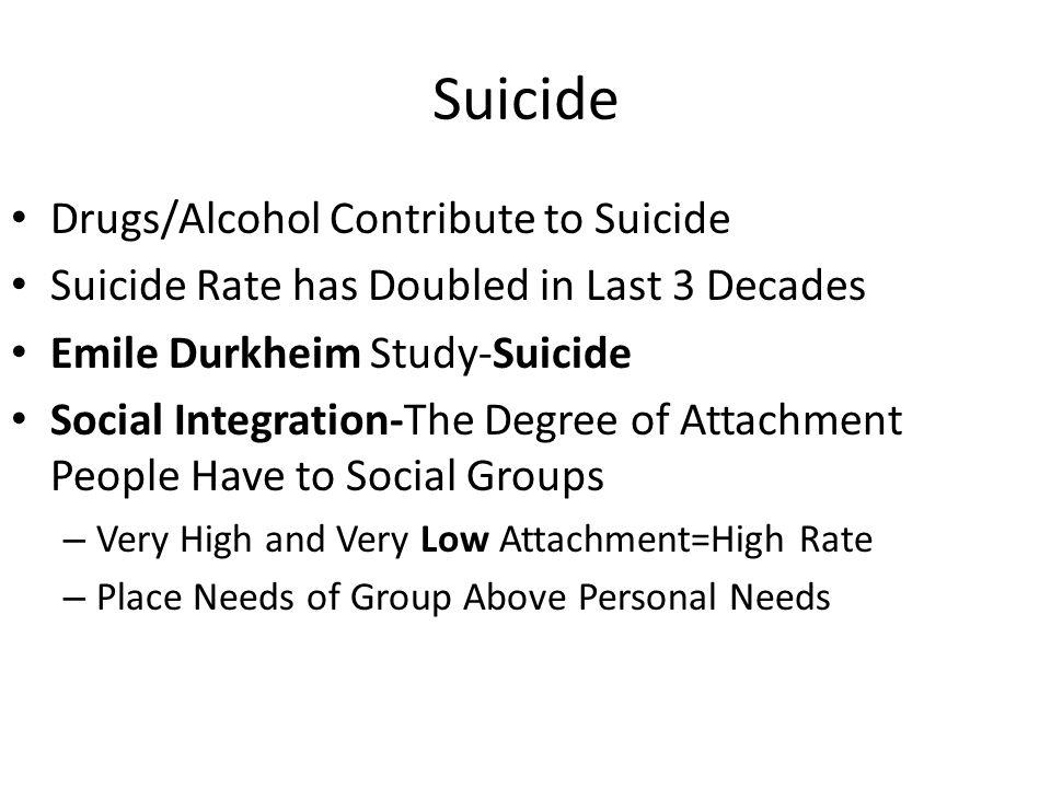 Suicide Drugs/Alcohol Contribute to Suicide