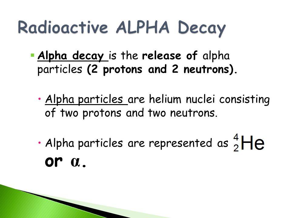 Radioactive ALPHA Decay