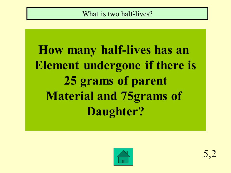 How many half-lives has an Element undergone if there is