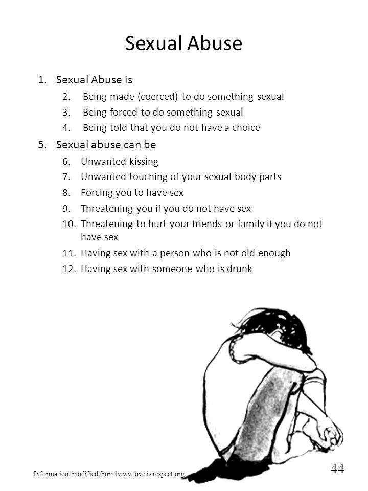 Sexual Abuse Sexual Abuse is Sexual abuse can be