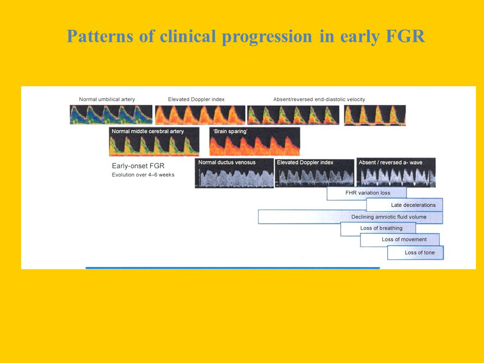 Patterns of clinical progression in early FGR