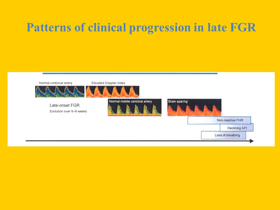 Patterns of clinical progression in late FGR