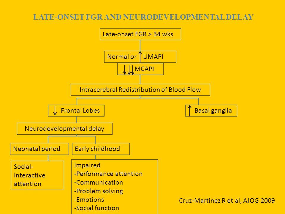LATE-ONSET FGR AND NEURODEVELOPMENTAL DELAY