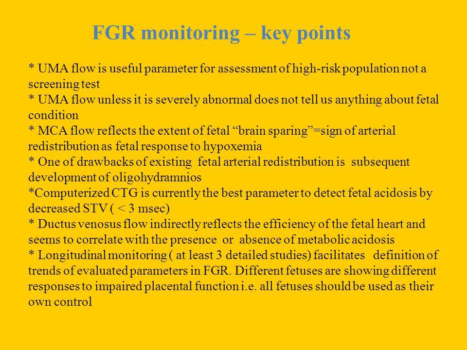 FGR monitoring – key points