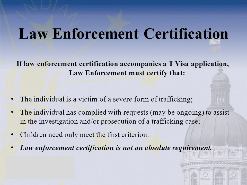 Law Enforcement Certification