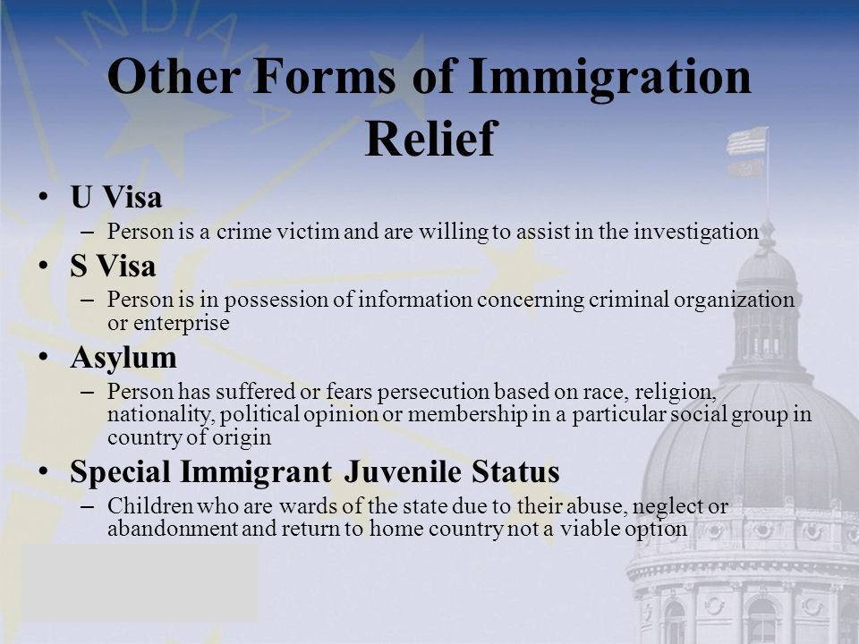 Other Forms of Immigration Relief
