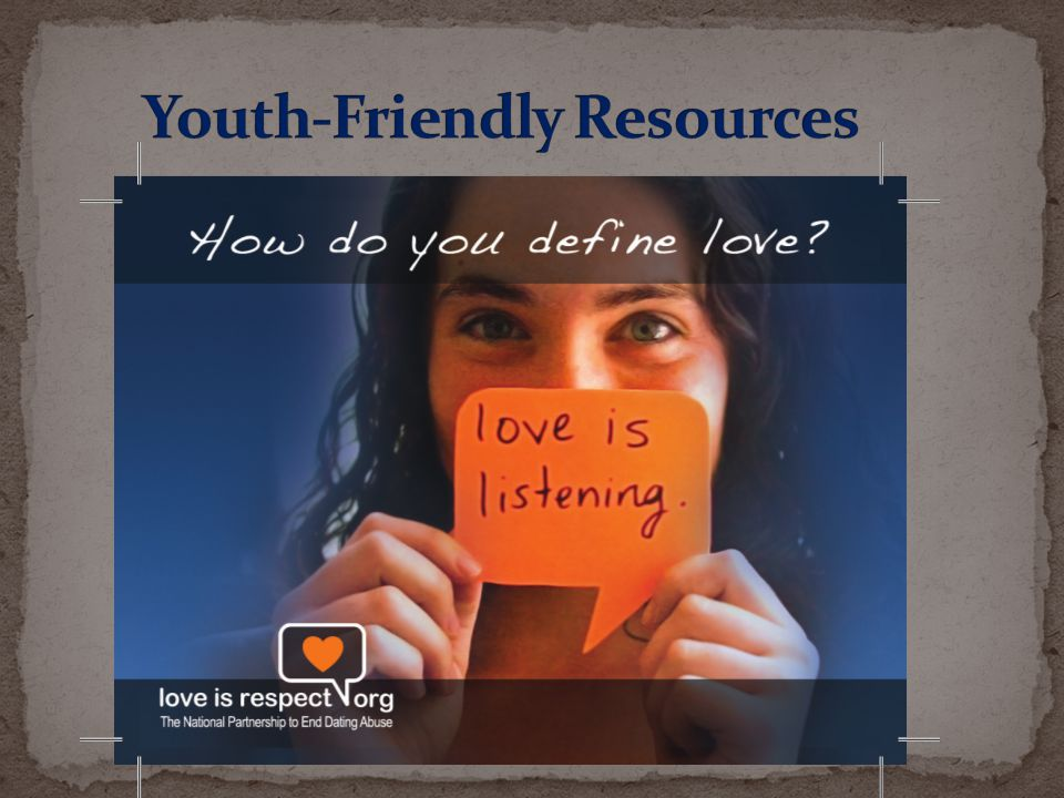 Youth-Friendly Resources