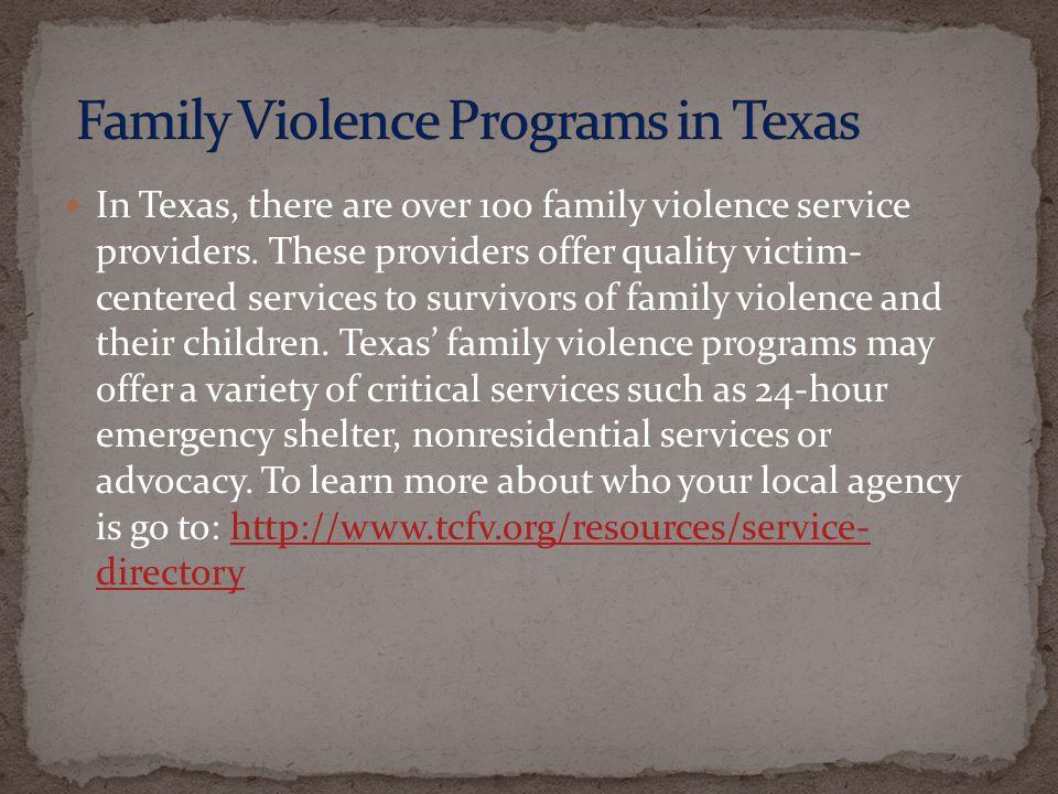 Family Violence Programs in Texas