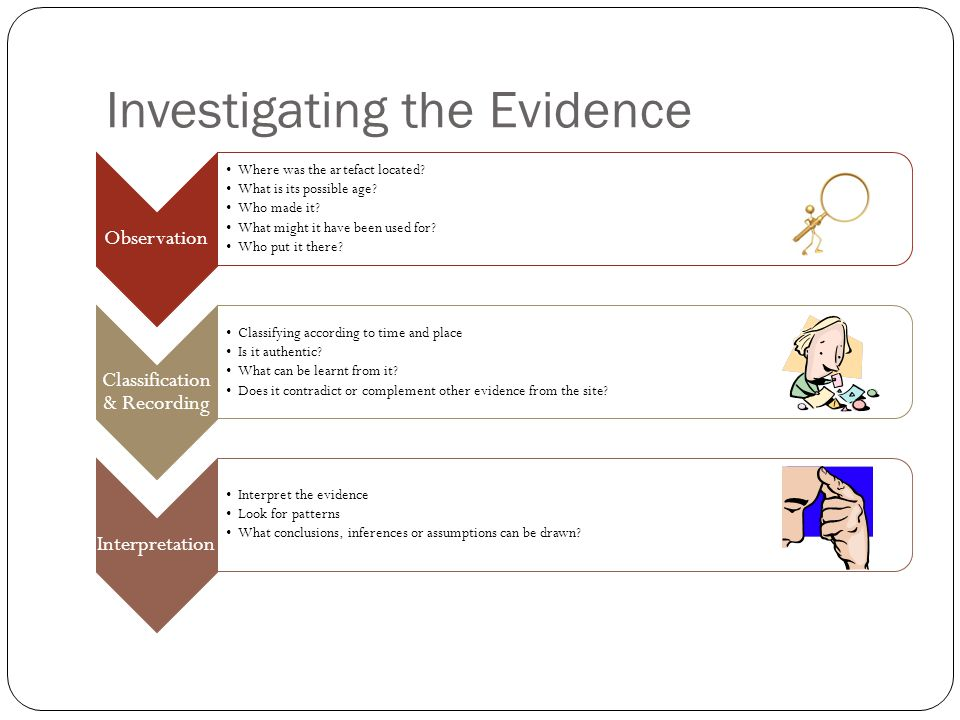 Investigating the Evidence