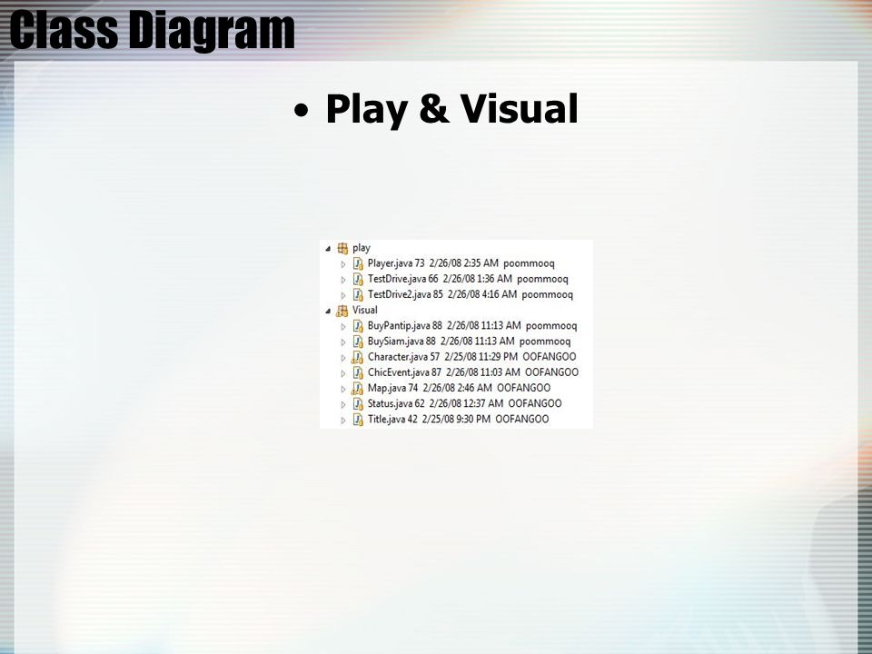 Class Diagram Play & Visual