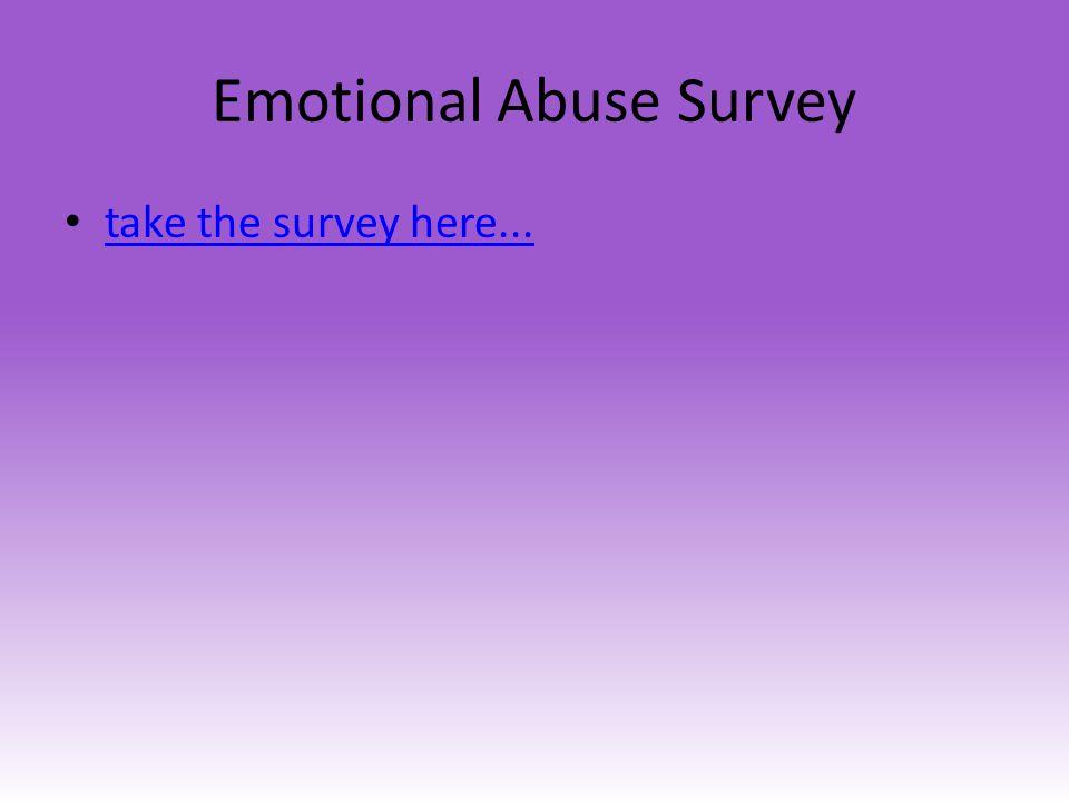 Emotional Abuse Survey