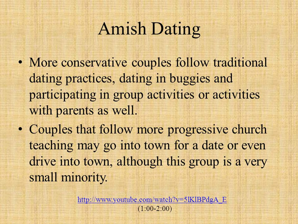 Amish Dating