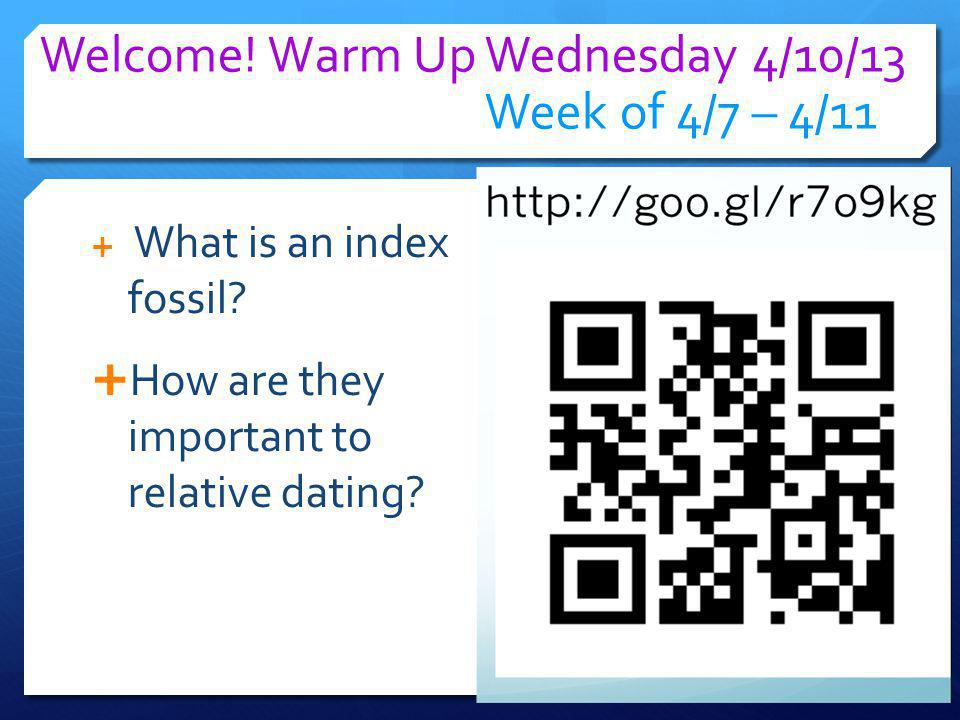 Welcome! Warm Up Wednesday 4/10/13 Week of 4/7 – 4/11