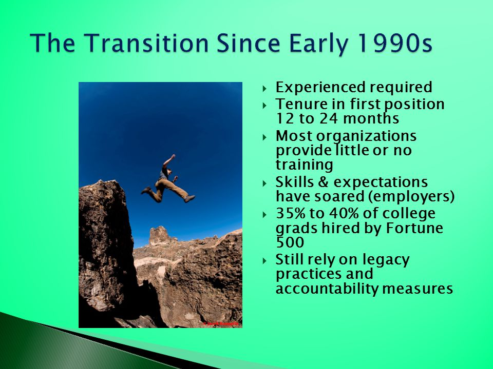 The Transition Since Early 1990s